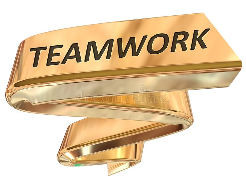 Golden Banner teamwork royalty free illustration