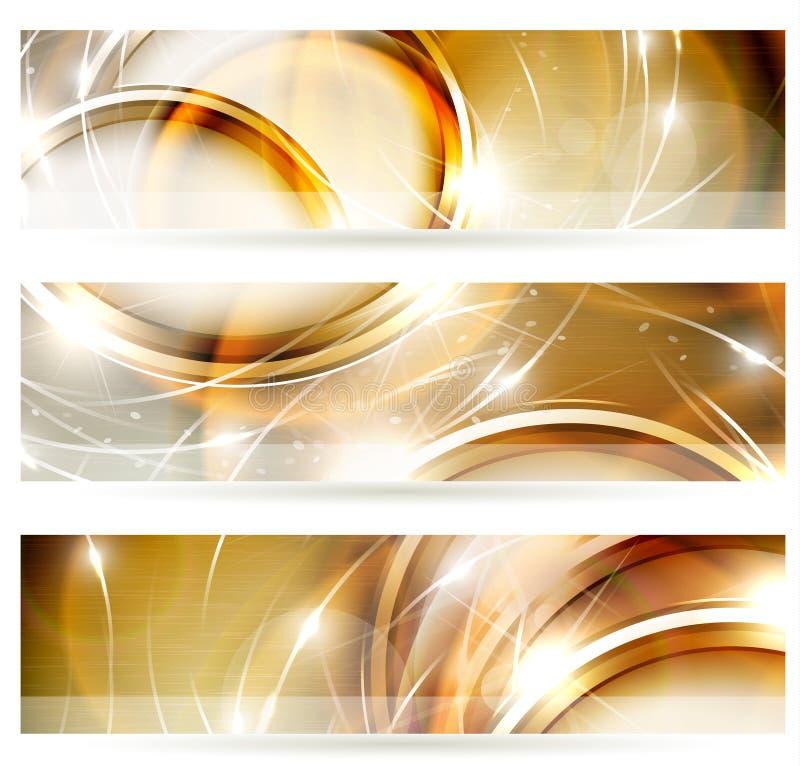 Golden banners vector illustration