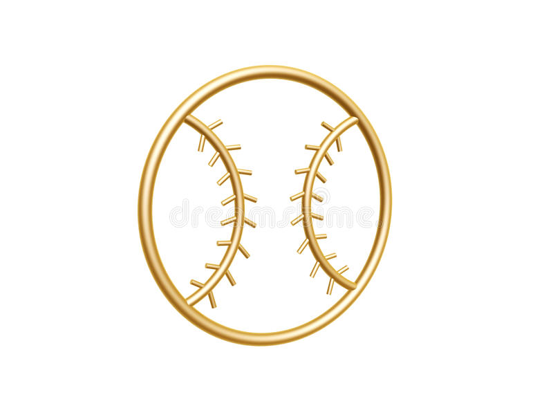 Golden Baseball Symbol Royalty Free Stock Photos