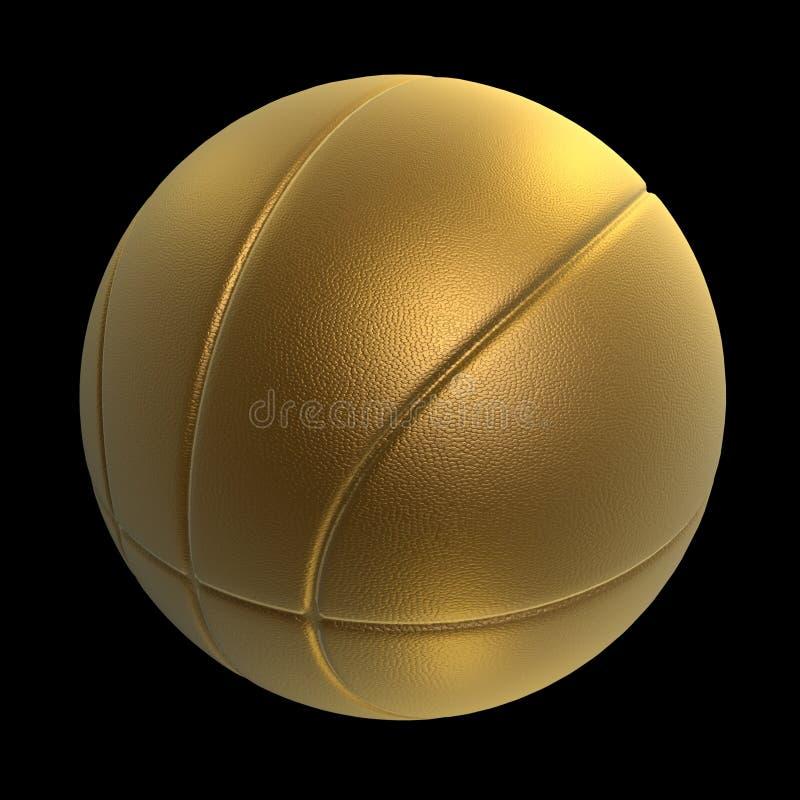 Golden basketball vector illustration