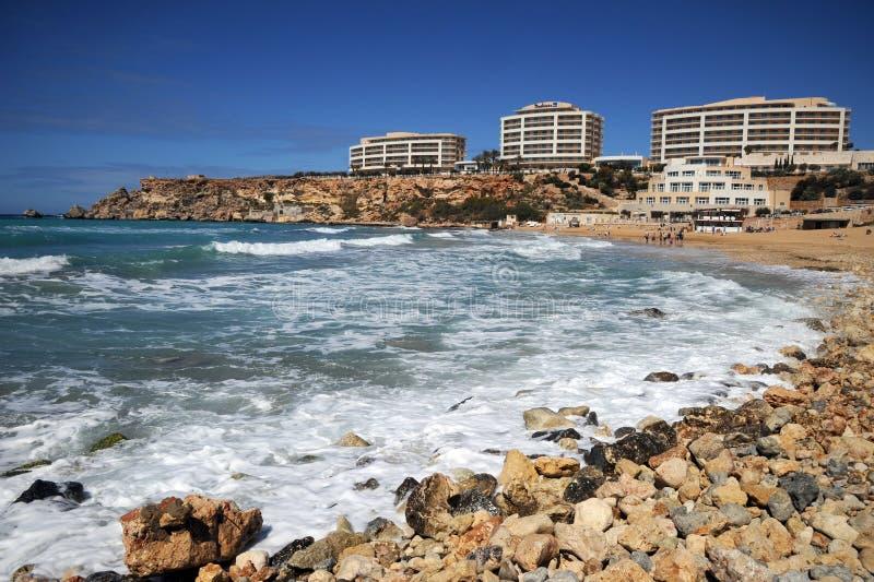 Download Golden Bay beach, Malta. editorial image. Image of idyllic - 30125720