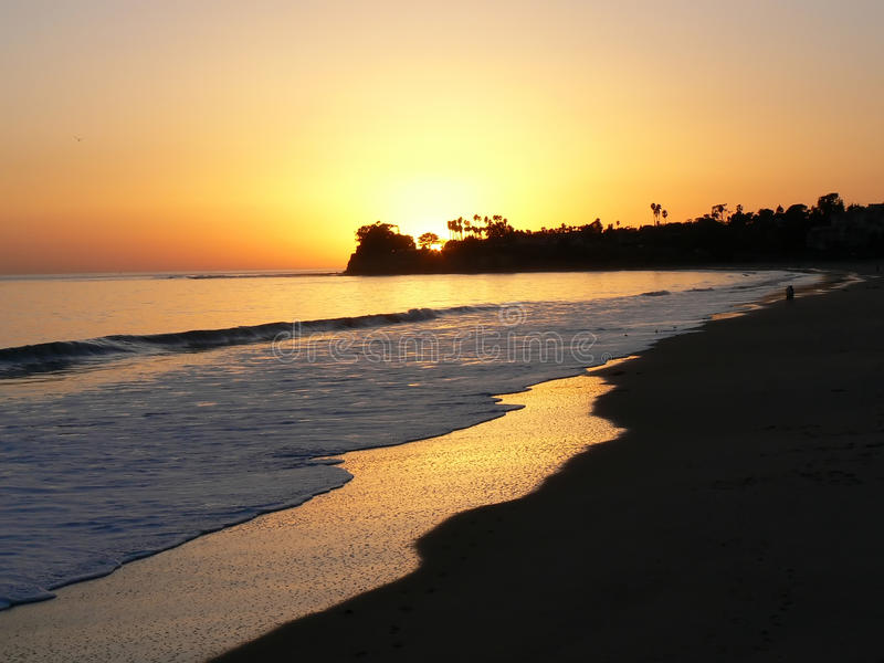 Golden beach royalty free stock image