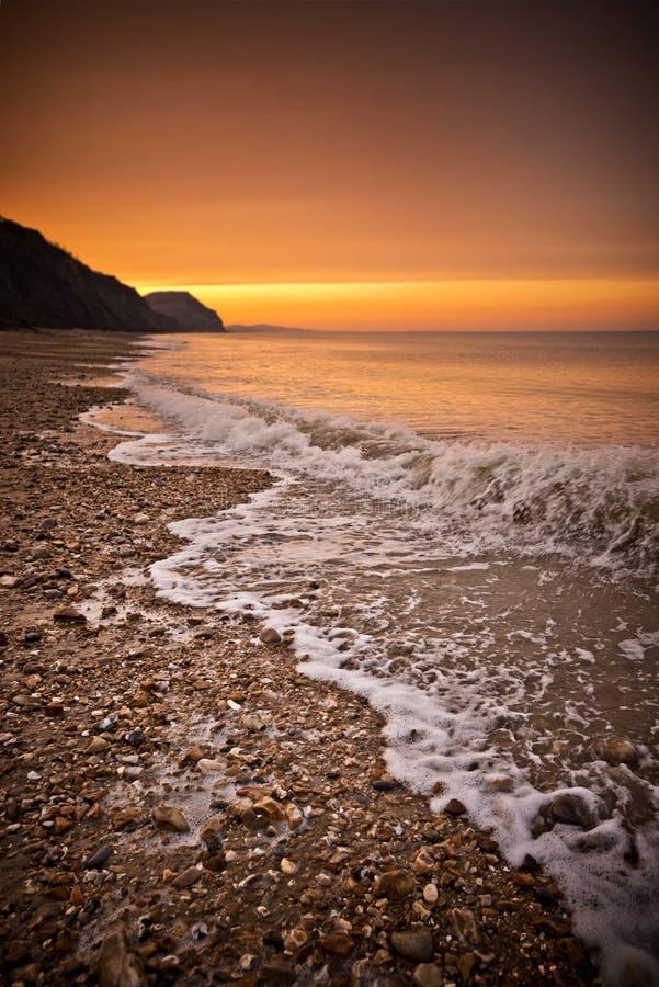 Download Golden Beach stock image. Image of light, coastline, dramatic - 30721993