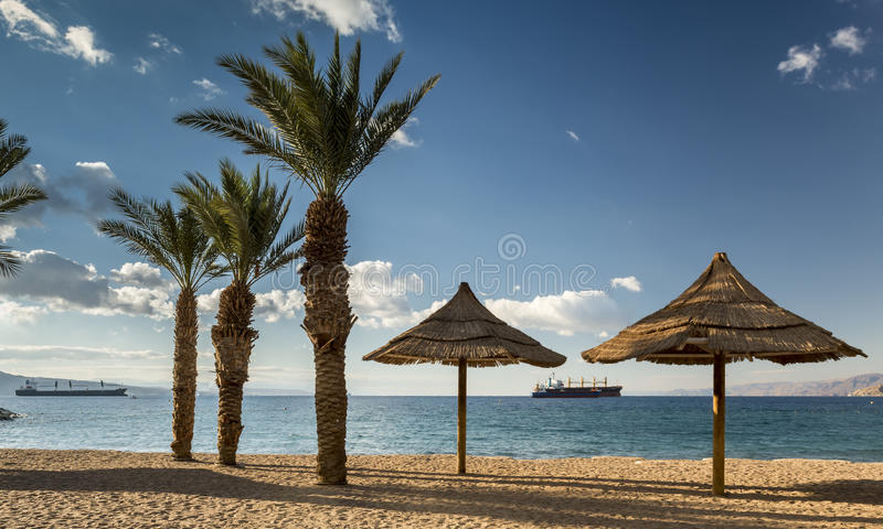 Golden beach of Eilat, Israel royalty free stock photos