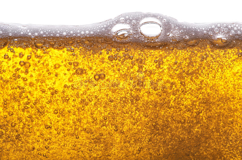 Golden beer. stock photos