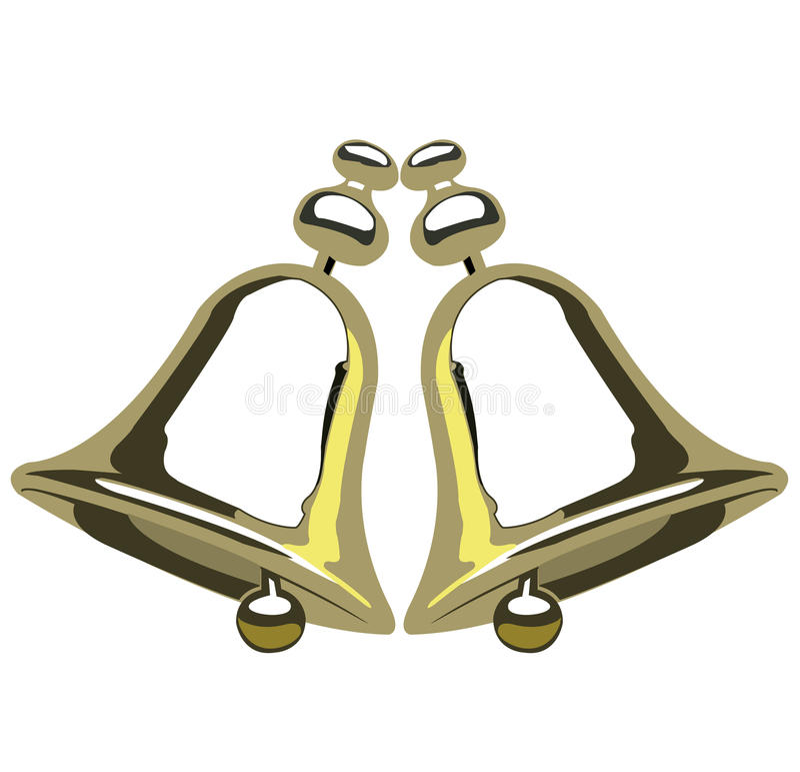 Golden bells royalty free illustration