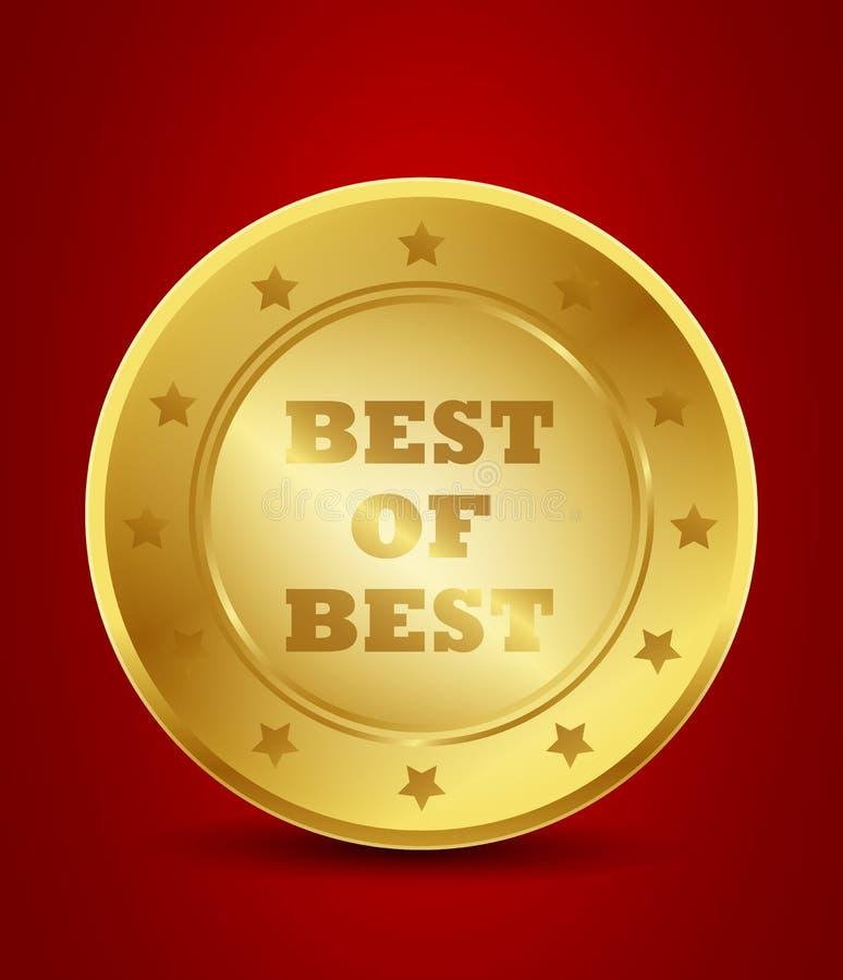 Download Golden best of best seal stock vector. Image of choice - 36479085