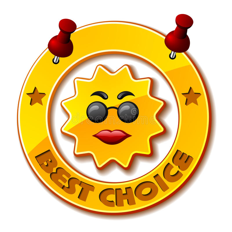 Download Golden best choice sun stock vector. Illustration of badge - 22444546