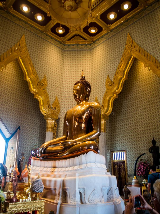 Golden Bhuddha or Wat Traimitr Withayaram temple in bangkok Thai royalty free stock photos