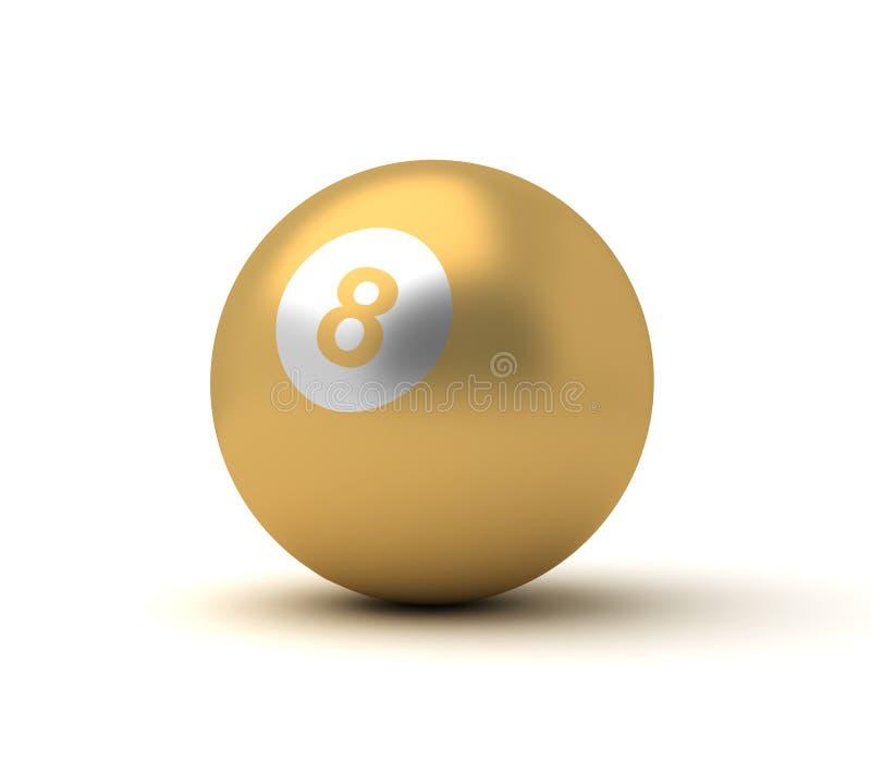 Golden Billiard Ball stock photo