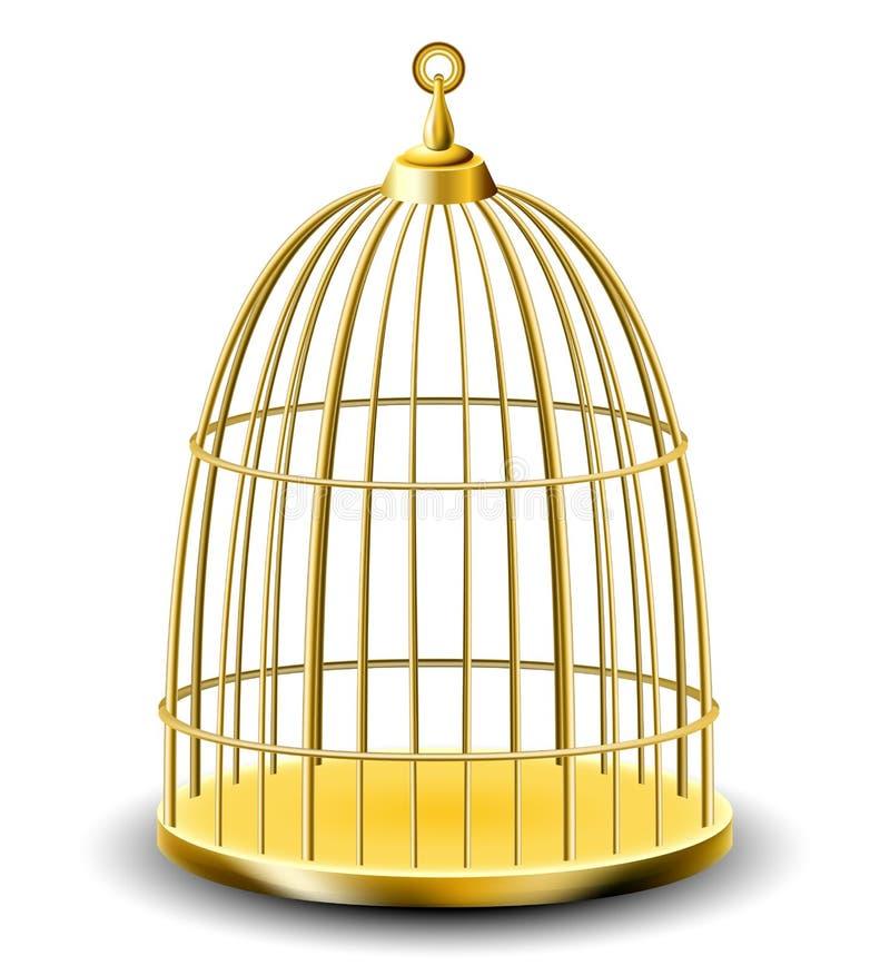 Download Golden bird cage stock vector. Image of open, closed - 33382833