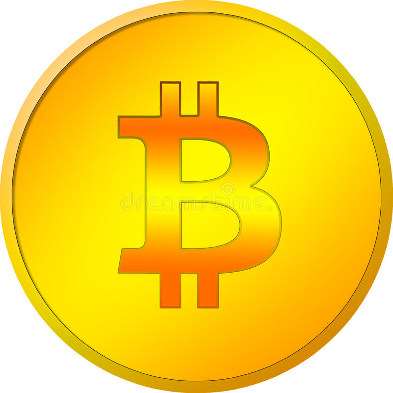 Golden bitcoin isolated on a white background royalty free stock photos