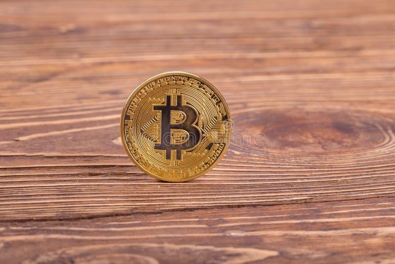 Golden bitcoin stock photography