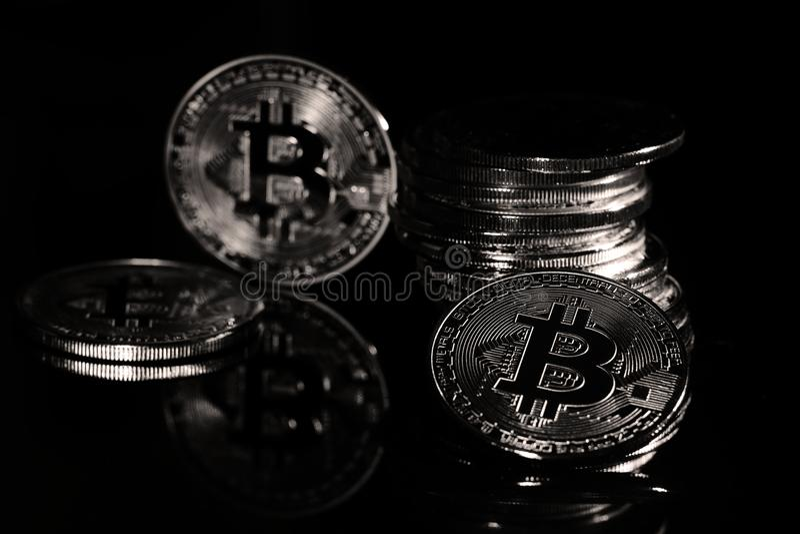 Bitcoins stock photography