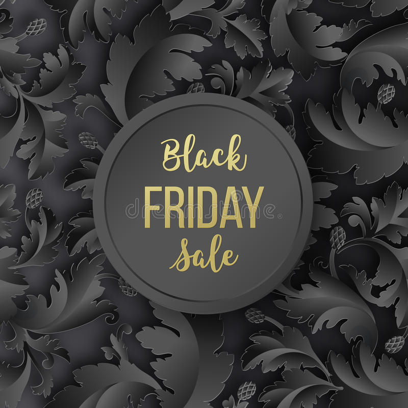 Golden Black Friday Sale Lettering Background. Template For Your ...