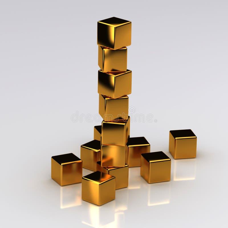 Download Golden Blocks stock illustration. Image of construction - 8680019