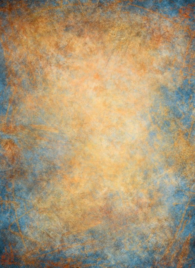 Golden Blue Background royalty free illustration