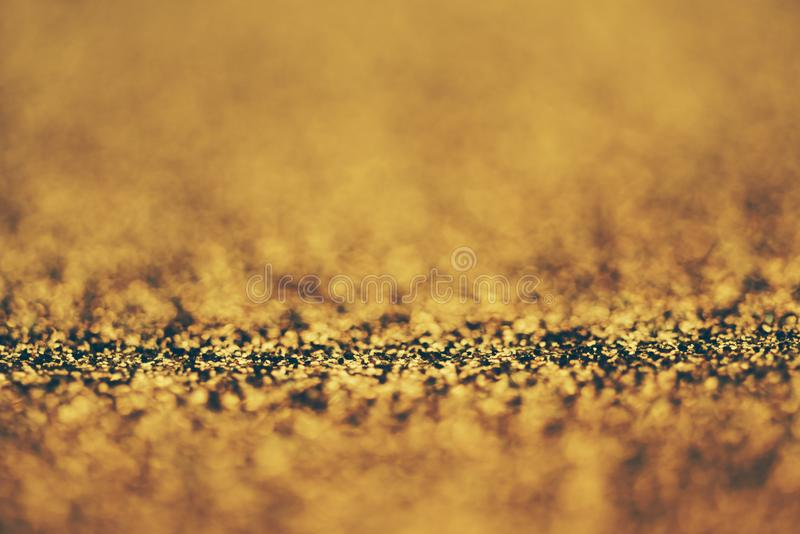 Golden bokeh background stock image