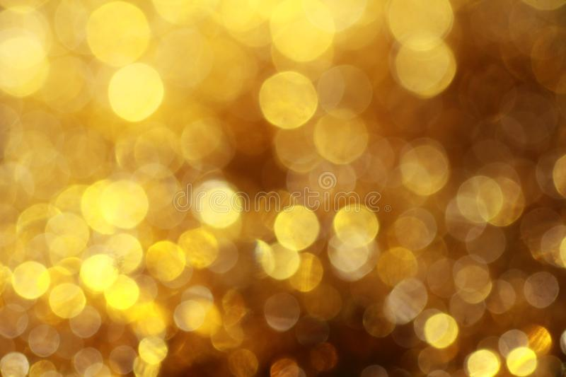 Golden Bokeh pattern with polka dots royalty free illustration