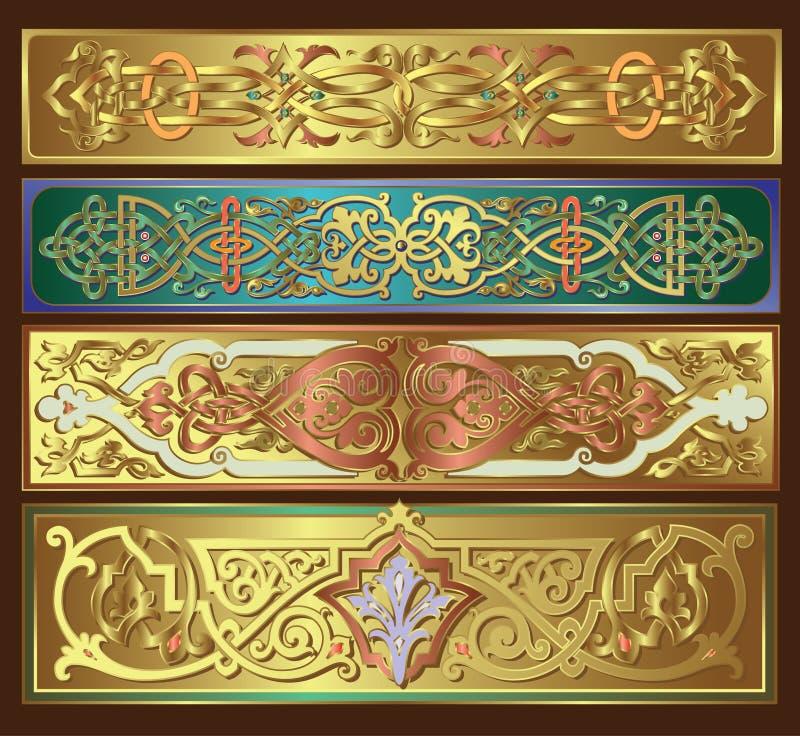 golden borders royalty free illustration