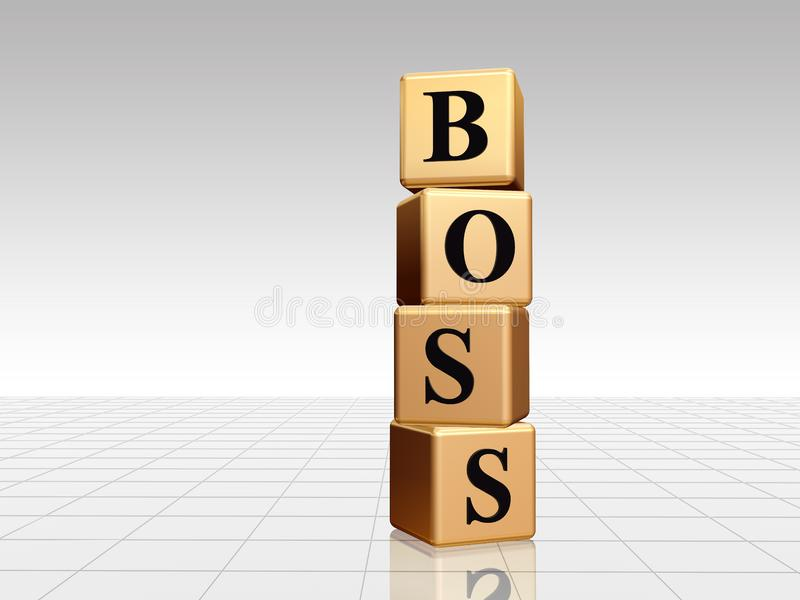Golden boss with reflection royalty free stock photos
