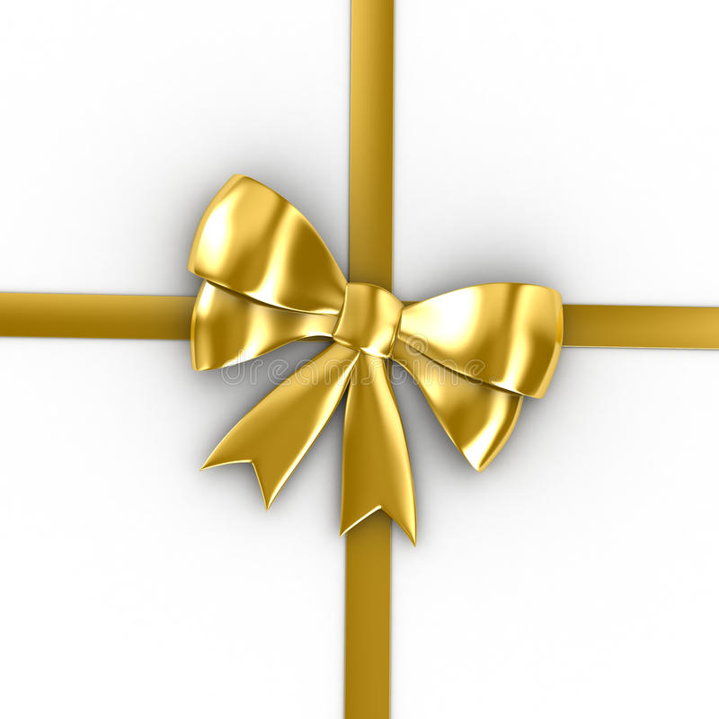 Download Golden Bow Royalty Free Stock Photo - Image: 12633145