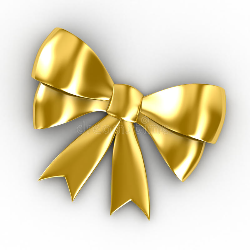 Golden Bow Royalty Free Stock Image