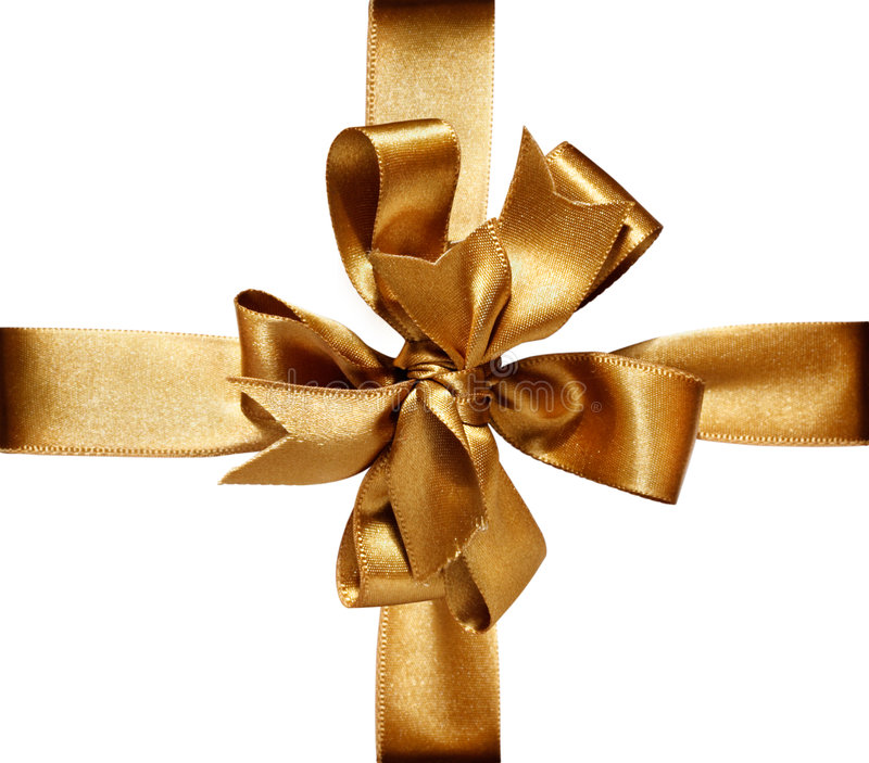 Download Golden Bow & Ribbon stock image. Image of knot, shopping - 6990105