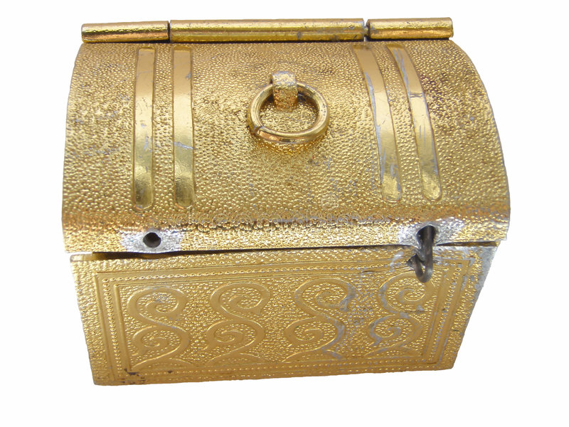 Golden box stock image. Image of fancy, bright, surprise - 2750171