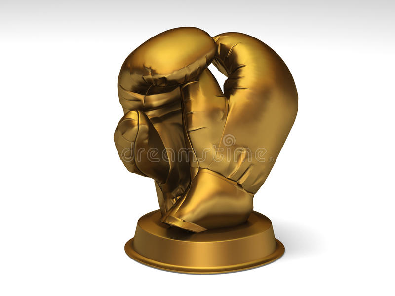 Golden boxing trophy royalty free stock image