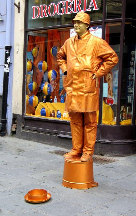 Download Golden boy. stock image. Image of gold, copernicus, street - 76219