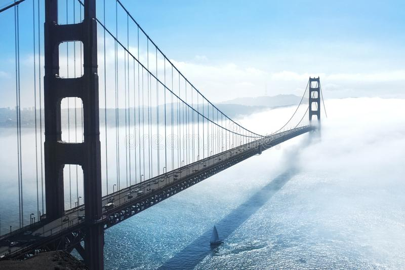 The golden bridge. royalty free stock photography