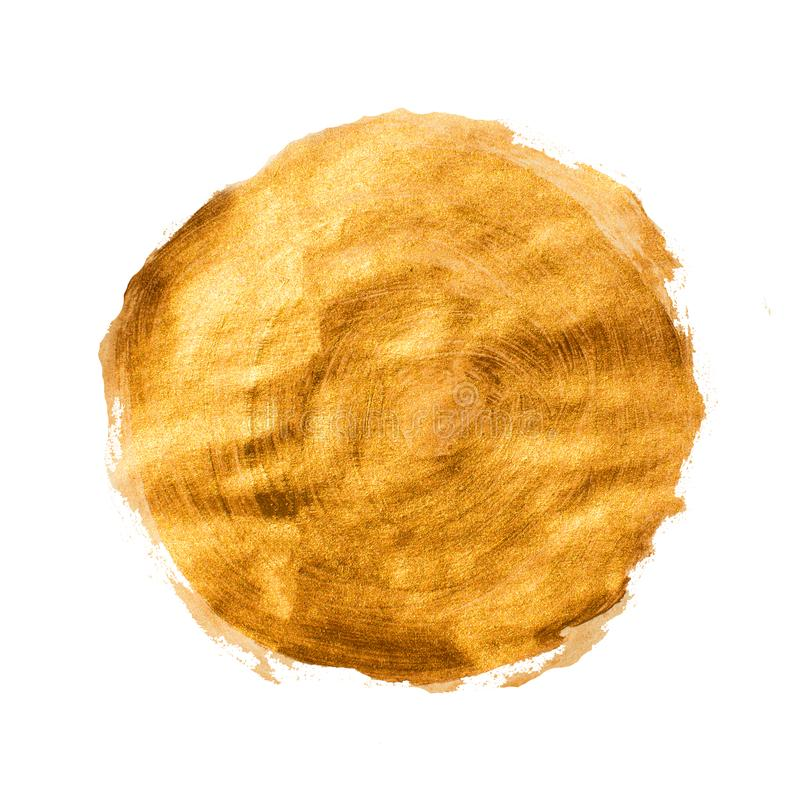 Golden brown grunge acrylic circle stock illustration