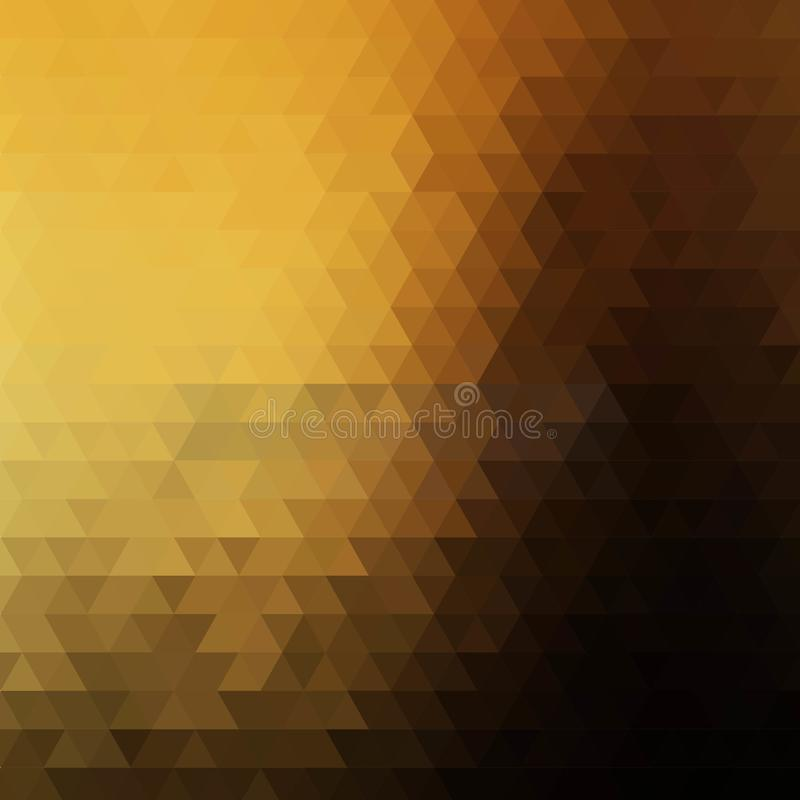 Golden brown triangular background. layout for advertising. template for business presentation. eps 10. Golden brown triangular background. layout for stock illustration