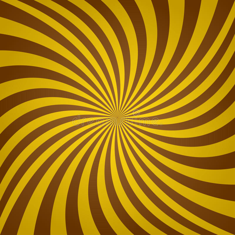 Golden brown whirl background vector illustration
