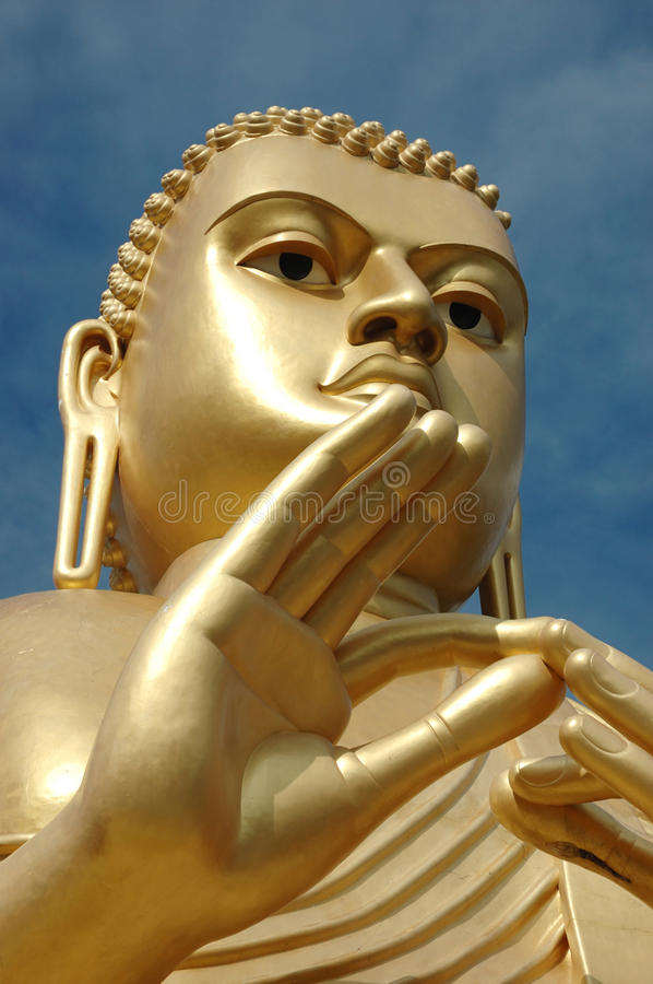 Golden Buddha at Dambulla,Sri Lanka royalty free stock images