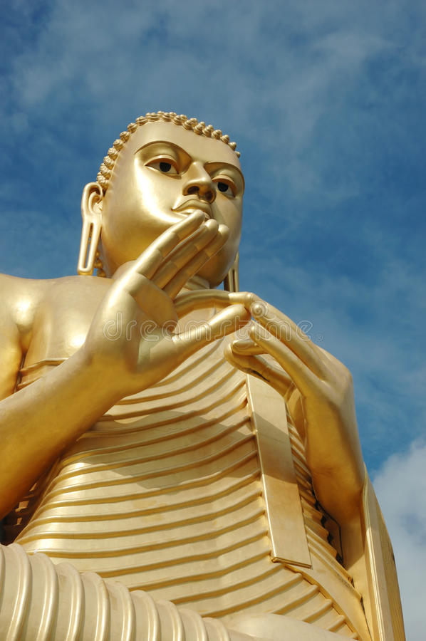 Golden Buddha at Dambulla,Sri Lanka stock image