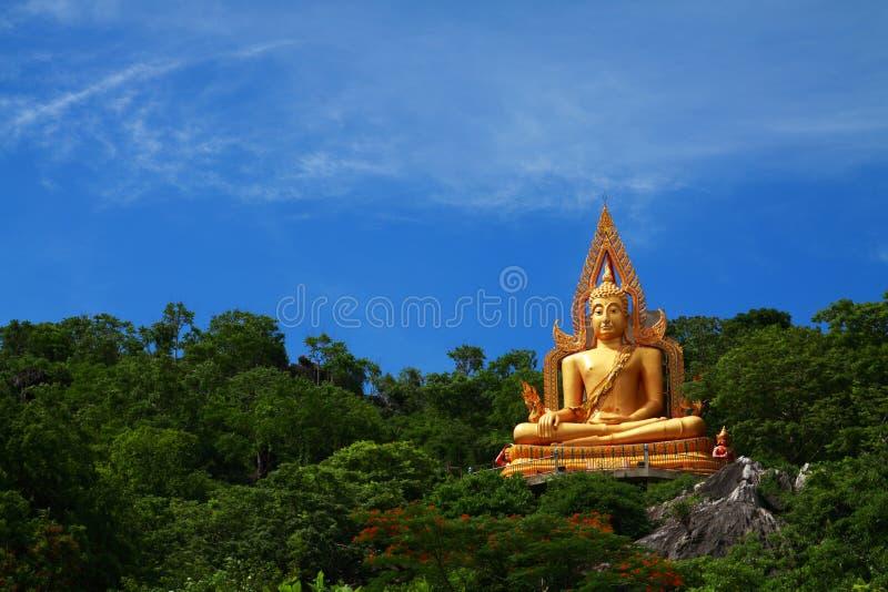 Download Golden Buddha On Green Mountain Stock Photo - Image: 14738476