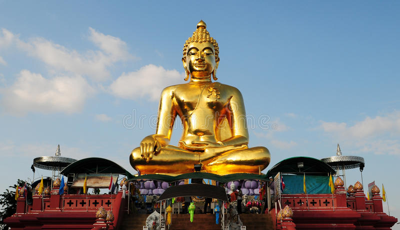 Download Golden Buddha statue stock image. Image of single, buddhist - 31008133