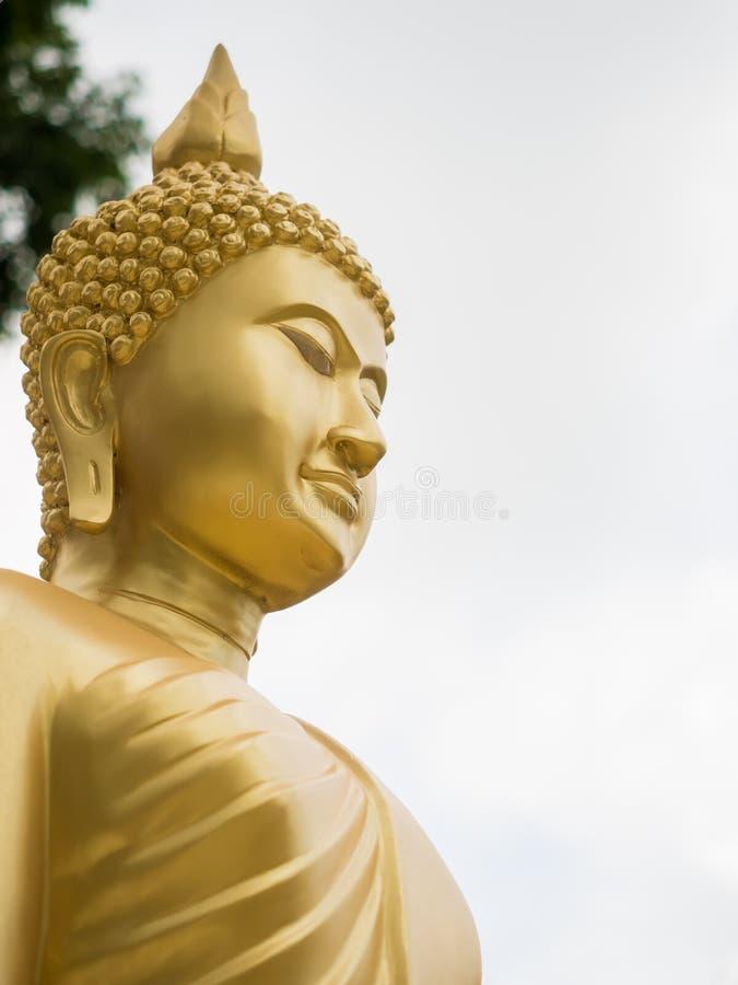 Golden buddha statue. stock image