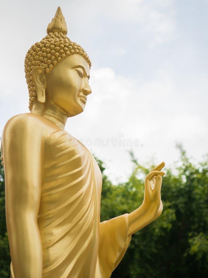 Golden buddha statue. stock photography