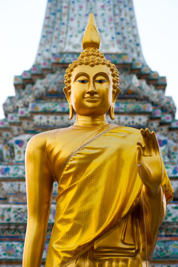Golden Buddha Statue, Wat Arun royalty free stock images