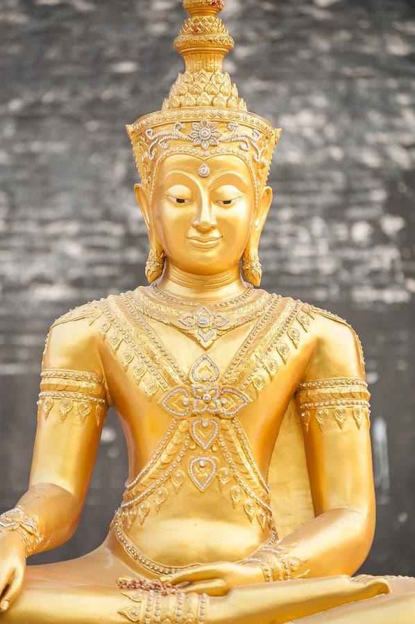 Golden Buddha statue at Wat Chedi Luang, Chiang Mai, Thailand royalty free stock photos