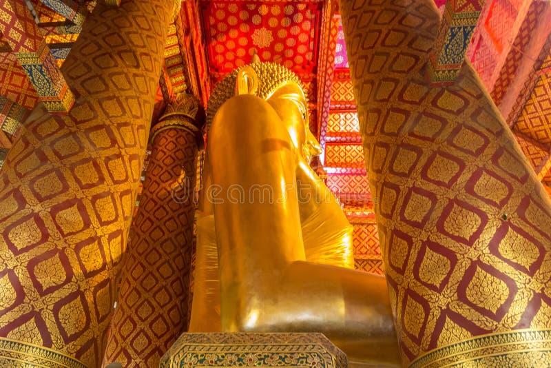 Golden Buddha statue in Wat Phanan Choeng temple. Ayutthaya Historical Park, Thailand. UNESCO World Heritage Site. Golden Buddha statue in Wat Phanan Choeng stock images