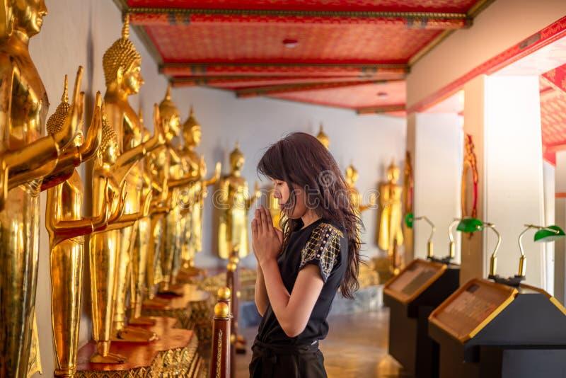 Golden Buddha stature, Phra Kaew temple in bangkok. Thailand stock photo