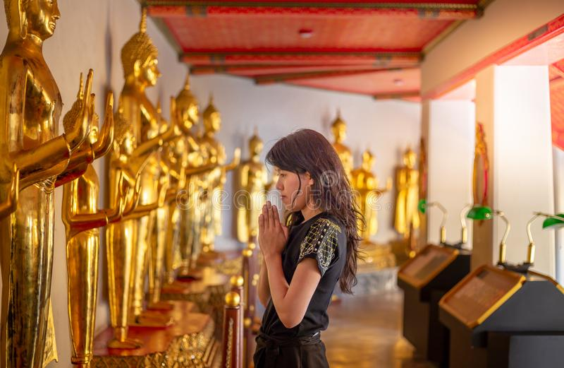 Golden Buddha stature, Phra Kaew temple in bangkok. Thailand stock photos