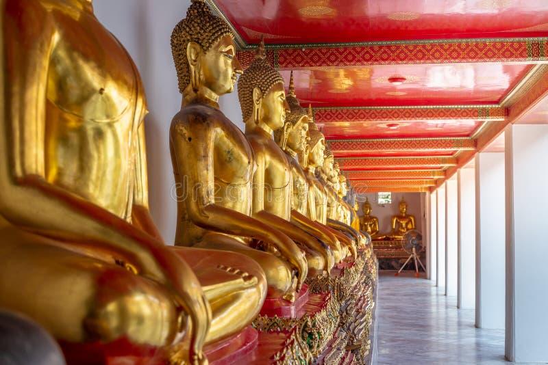 Golden Buddha stature, Phra Kaew temple in bangkok. Thailand stock image