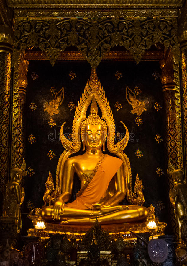 Download Golden buddha stock photo. Image of gold, painting, buddhist - 39512384