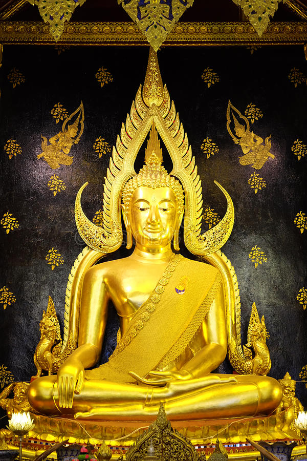 Golden buddha in thailand royalty free stock photography