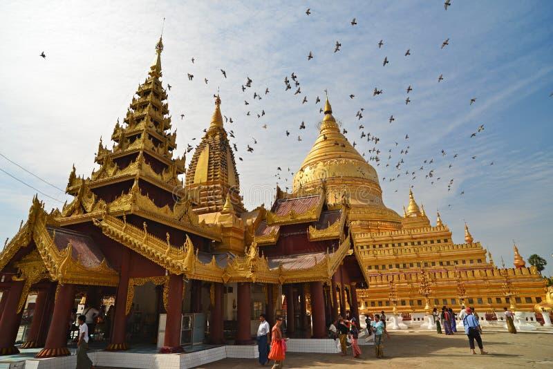 Shwezigon Paya.Bagan royalty free stock images